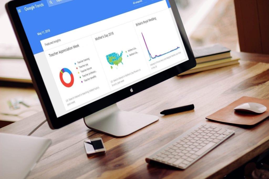 Google Trends Online Shop Blog Tool