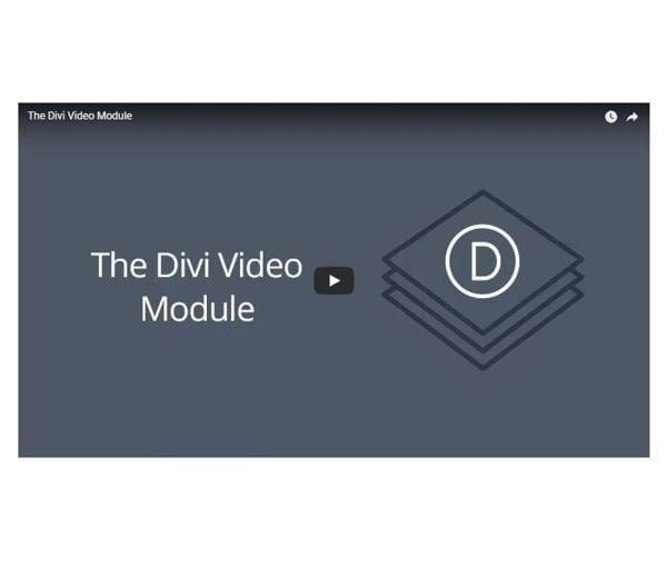 Video Module | Divi Builder