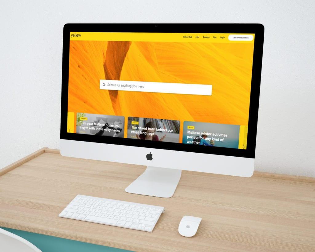 Yellow Malta Website Design
