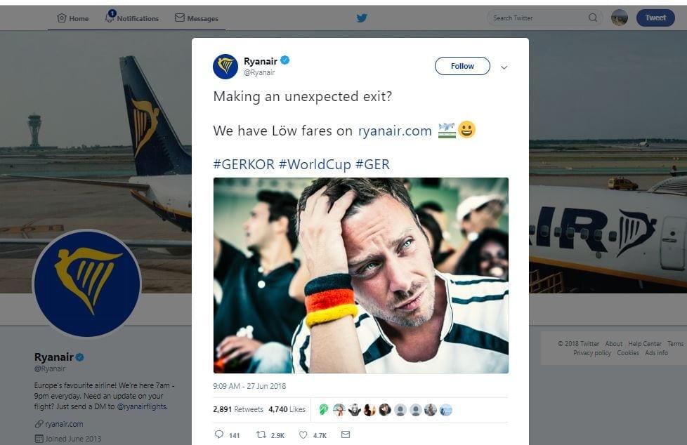 Ryanair marketing campaign