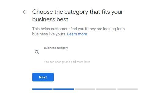 Google My Business Choose Category
