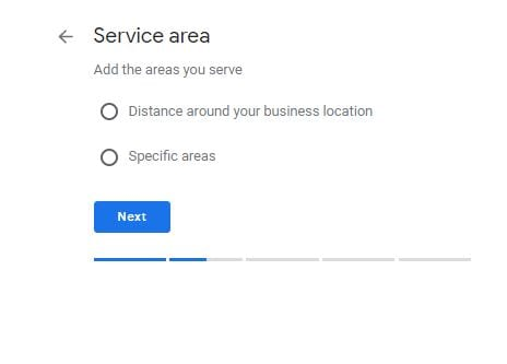 Google My Business Service Area